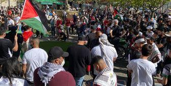 تجمع در برلین در حمایت از فلسطین