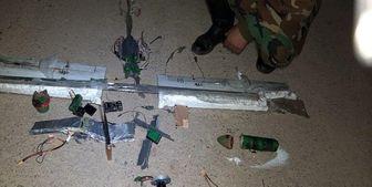 منهدم کردن یک پهپاد تروریستها توسط ارتش سوریه