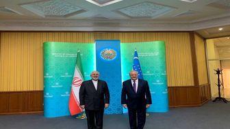 دیدار ظریف با همتای ازبکستانی خود