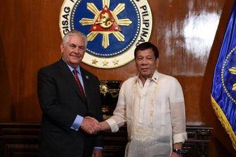 دیدار وزیر خارجه آمریکا با رئیسجمهور فیلیپین