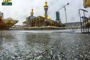 بارش باران پاییزی حرم شریفین کاظمین/ گزارش تصویری