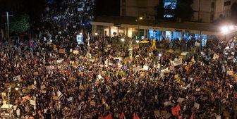 تداوم تجمع معترضان مقابل اقامتگاه نتانیاهو