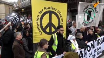 تظاهرات ضد جنگ مردم در لندن
