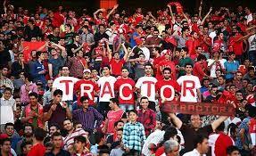 شعار هواداران تراکتورسازی علیه آجورلو