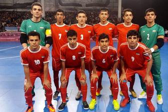 برد تیم فوتسال جوانان ایران مقابل افغانستان